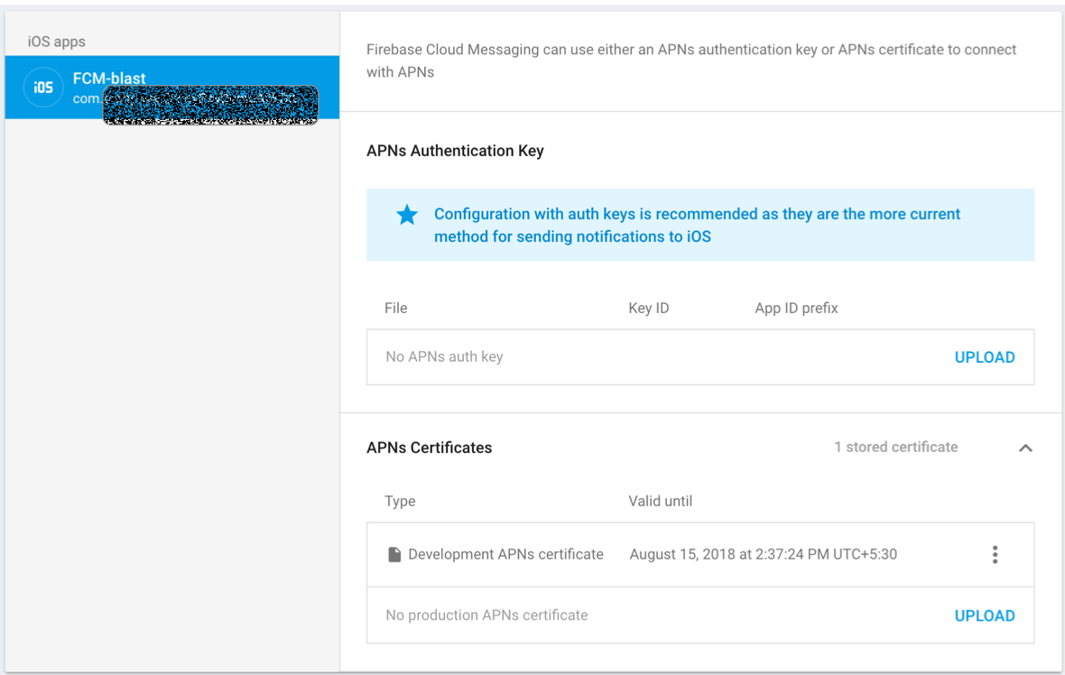 Firebase cloud messaging in ios your development apns certificate upload the p12 certificate that we created or rather exported from keychain access in the previous step 1betcityfo Image collections